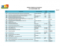 CBELRS Tableau Hebdomadaire des offres d'emploi 30 NOV