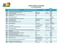 CBELRS Tableau Hebdomadaire des offres d'emploi 18 JANVIER