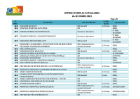CBELRS Tableau Hebdomadaire des offres d'emploi 22 MARS