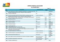 CBELRS Tableau Hebdomadaire des offres d'emploi 8 MARS