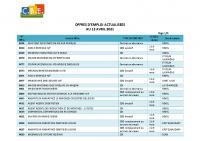 CBELRS Tableau Hebdomadaire des offres d'emploi 12 AVRIL