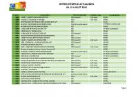 CBELRS Tableau Hebdomadaire des offres d'emploi 12 JUILLET 2021